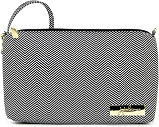 JuJuBe Be Quick Baby Wipe Carrying Case/Detachable Wristlet, Legacy Collection - The Queen of The Nile - Black/White Chevron