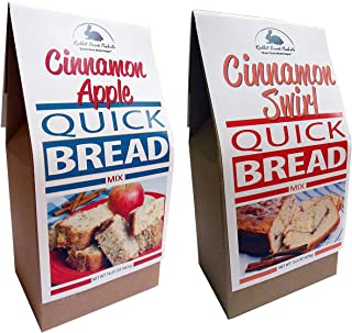 Rabbit Creek Quick Bread Mix Variety Pack of 2 – Cinnamon Apple Bread and Cinnamon Swirl Quick Bread Mix