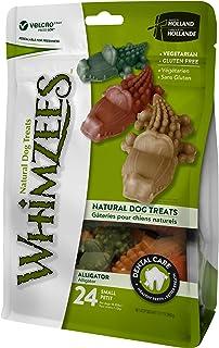 Whimzees Natural Grain Free Dental Dog Treats, Alligator Small 24pcs 360g