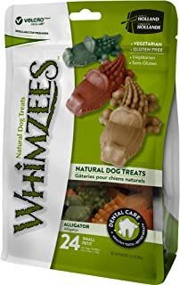 Whimzees Alligator Stand Up Bag 24 Pieces, 24 Count