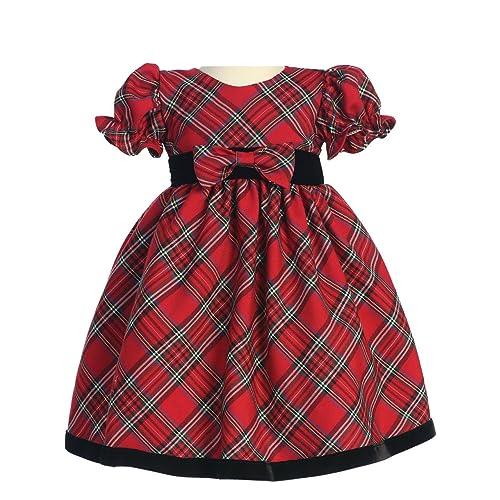 Lito Girls Holiday Christmas Year's Plaid Dress - Christmas Dresses For Toddlers: Amazon.com