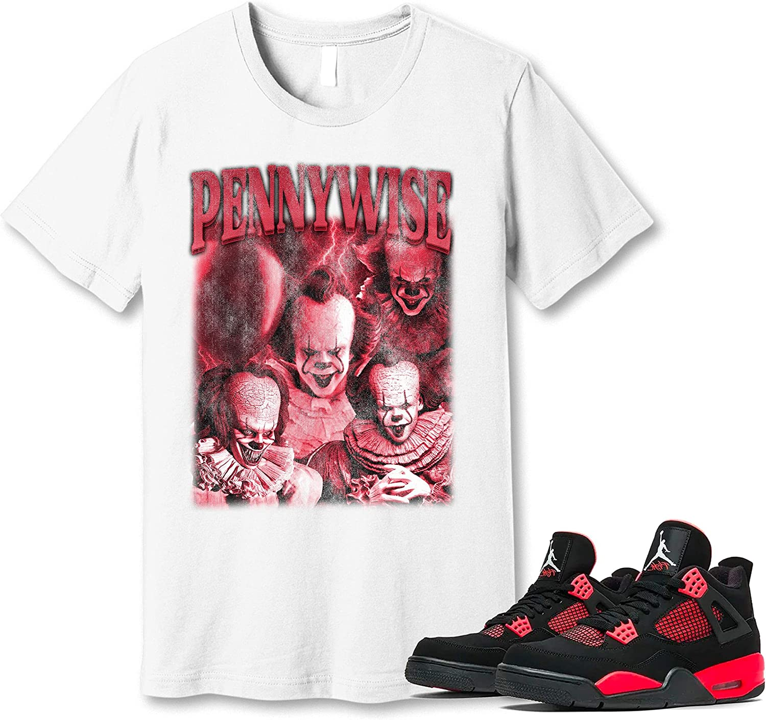 #Pennywise T-Shirt Very popular to Match Jordan 4 Snkrs Sneaker G Thunder Red 2021 autumn and winter new