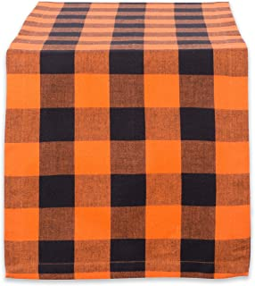 DII Cotton Buffalo Check Table Runner for Family Dinners or Gatherings, Indoor or Outdoor Parties, Halloween, & Everyday Use (14x72