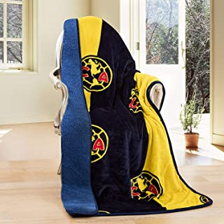 Club America Silk Touch Sherpa Lined Throw Blanket 50x60