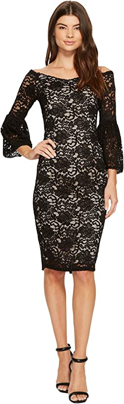 Adrianna Papell - Juliet Lace Off Shoulder Fit and Flare Dress