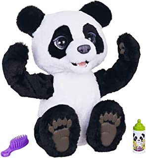 FurReal friends E85935S1 furReal Plum, The Curious Panda Cub Interactive Plush Toy, White-Black