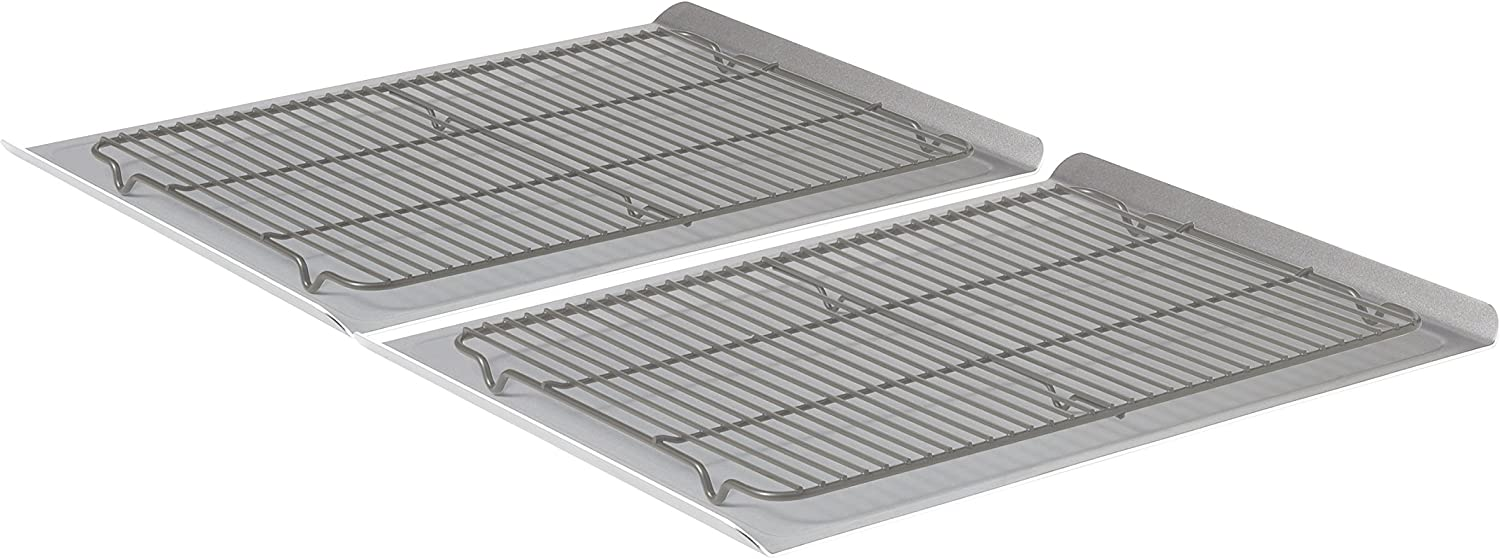 Calphalon Nonstick Bakeware, Cookie Sheet, 14-inch by 17-inch: Baking Sheets: Kitchen & Dining