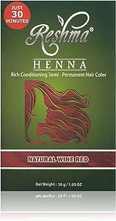 Reshma Beauty Henna - Tinte para el pelo, Natural Wine Red