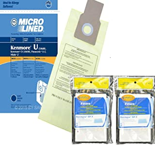 Kenmore 10 Type U Allergen Filtration Vacuum Bags Vacuums, 50105, 50688, 50690 Includes (2) CF-3 Motor Chamber Filters