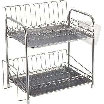 パール金属 食器 水切り かご 2段 シンプル・ウェア HW-7301