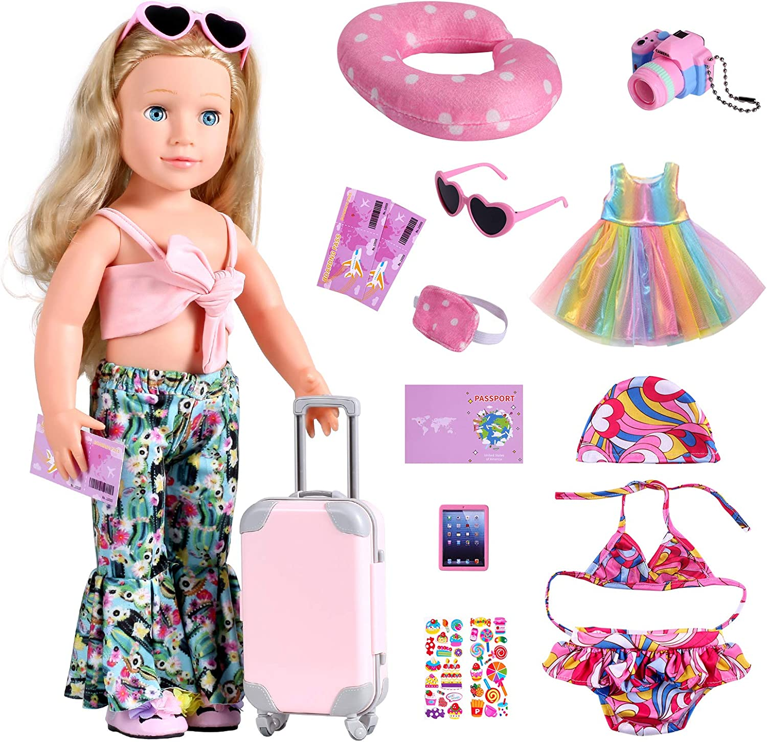 Bernito 18 Year-end annual account Inch Doll Accessories Including Play Set Translated Gear Travel