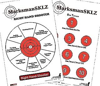 MarksmanSKLZ Diagnostic and Training Pistol Shooting Targets (Pack of 20 + 5 Bonus Drill Targets) | High Visibility 11