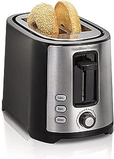 Hamilton Beach 2-Slice Extra-Wide Slot Toaster with Shade Selector, Toast Boost, Cool Wall, Auto Shutoff, Black (22633)
