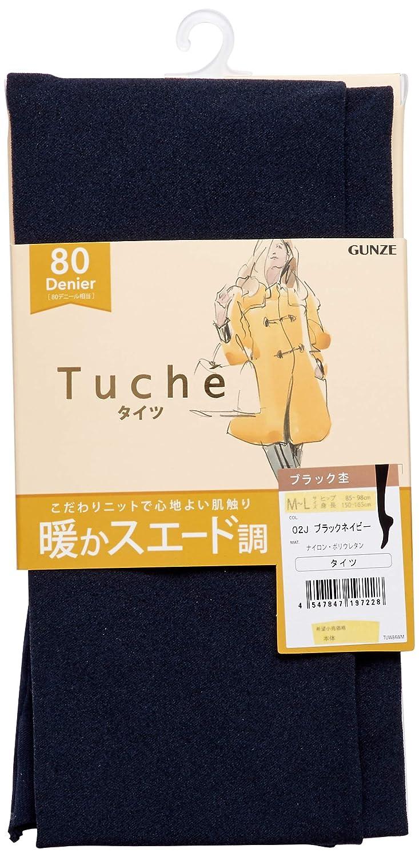 [グンゼ] タイツ Tuche 暖かスエード調 80デニール TUW84W レディース