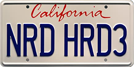 Celebrity Machines Chuck | NRD HRD3 | Metal Stamped License Plate