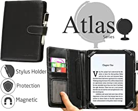 Navitech Black Book Style Case Cover Protector Compatible with The All-New Kindle Oasis E-Reader 2019