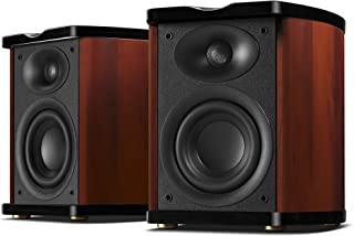 Swans Speakers - M100MKII - Powered 2.0 Wireless Bluetooth Bookshelf Speakers - Wooden Cabinet - 4'' Midrange-Bass Driver & 0.8'' Dome Tweeter - Excellent Heat Dissipation - RMS 60W