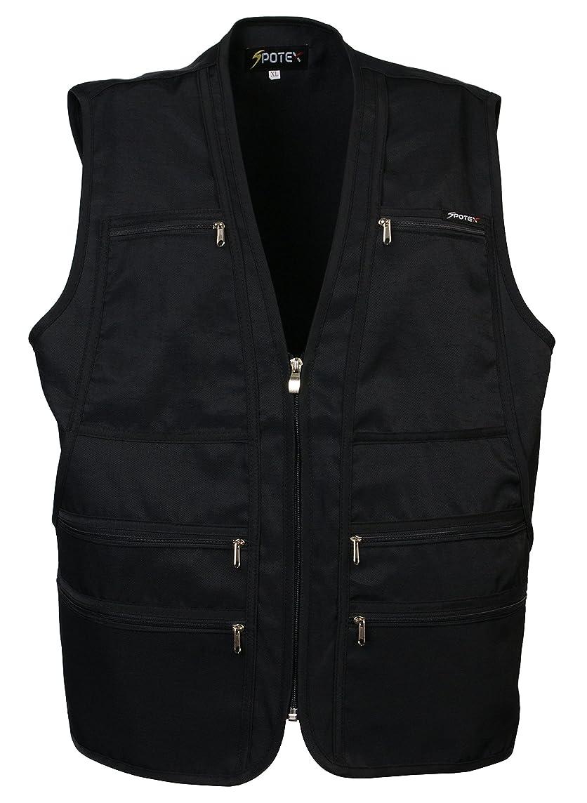 Men's 9 Pockets Work Utility Vest Military Photo Safari Travel Vest Workwear