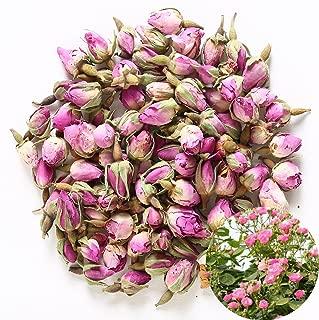 TooGet Fragrant Natural Pink Rose Buds Rose Petals Organic Dried Rosa Damascena Wholesale, Culinary Food Grade - 2 OZ