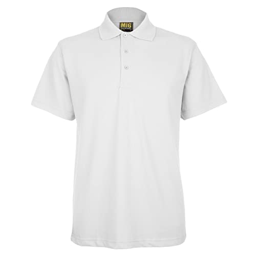 3e8d95d40 Mens Active Pique Polo T Shirts Sizes XS to 4XL In 8 Colours By MIG -