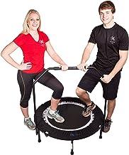 MaXimus Indoor Fitness Trampoline Bounce & Burn. Indoor trampoline voor Jumping Fitness. Rebounder trampoline inclusief DV...