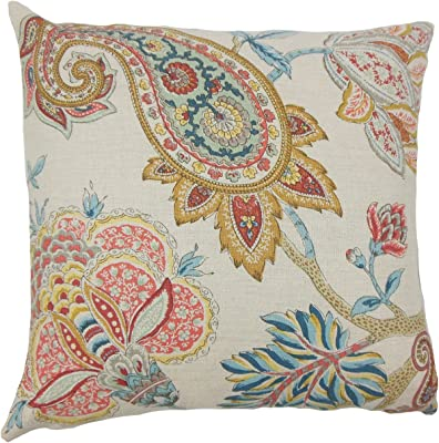 Coral The Pillow Collection Neith Geometric Pillow