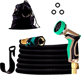 Detool 100ft Garden Hose - New Expandable Water Hose with Double Latex Core, 3/4