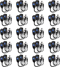 20 Pairs Passive Video Balun RJ45 Transceiver Transmitter HD-CVI/TVI/AHD/CVBS with DC Built-in Transient Suppression Prote...