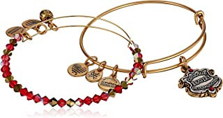 Alex and Ani Womens Harry Potter Gryffindor Motto Set of 2 Two-Tone