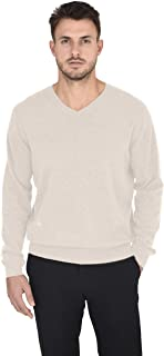 Men's Essentials Knit V-Neck Sweater Cashmere Wool Long Sleeve Classic Pullover