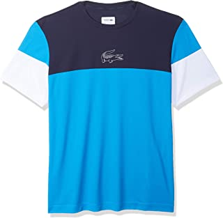 Lacoste Men's Sport Short Sleeve Ultra Dry Technical Color Blocked T-Shirt