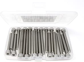 Spring Washer Nut 16 Sets Flat Washer Simplified Living M6 x 80mm Nut and Bolt Hardware Kit Anti-Corrosive Dacromet Coated Steel Each Set Includes: Bolt