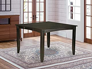 East West Furniture Gathering Counter Height Dining Table with 18-Inch Butterfly Leaf, Cappuccino Finish