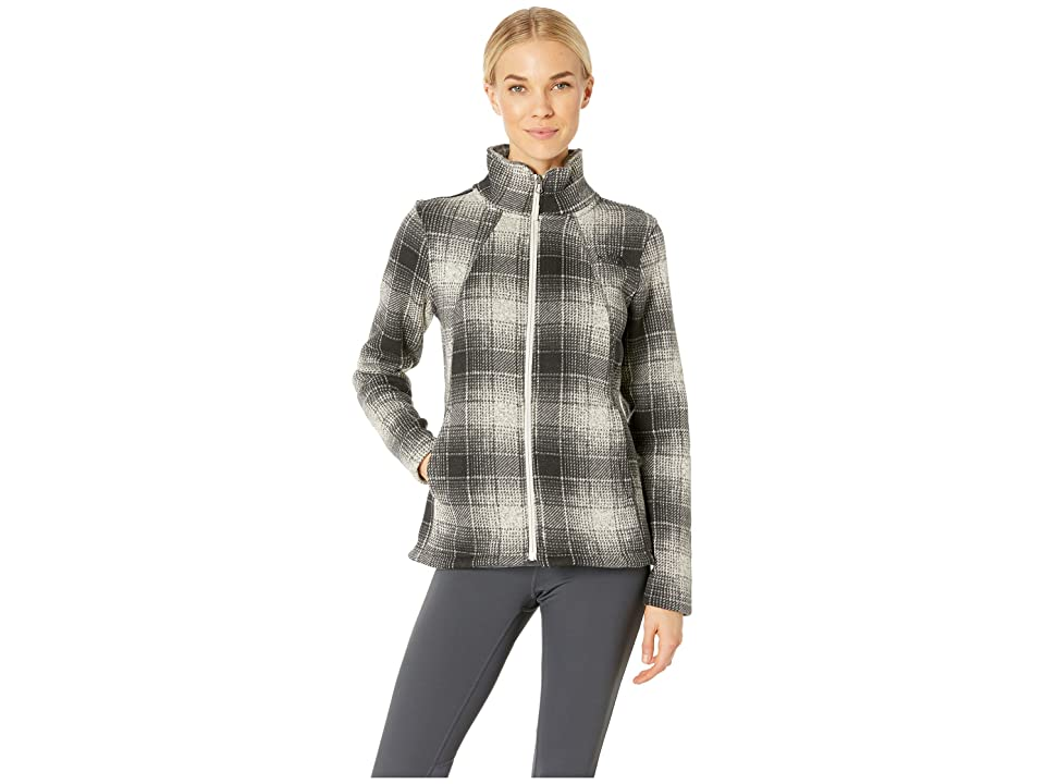 The North Face Crescent Full Zip (Vintage White Ombre Plaid Small Print) Women