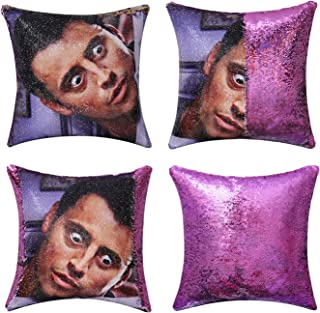 Best Jasen Friends Joey Tribbiani Sequin Pillow Cover Magic Two Color Changing Pillowcase Mermaid Pillow Custom Pillow Cover Gift for Her Him Review