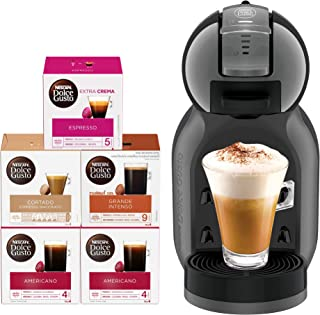 Nescafe Dolce Mini Me Coffee Machine (with 5 Capsule Boxes), Black
