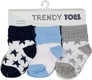 Trendy Toes- Boys Baby Bootie Socks