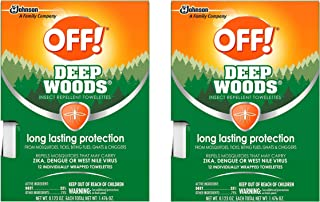 OFF! Deep Woods Insect Repellent Towelettes (Pack - 2)