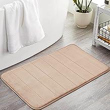ROSMARUS Memory Foam Bath Rug Non Slip Absorbent Bathroom Rugs with TPR Backing Ultra Soft Bath Room Floor Mat Kitchen Run...