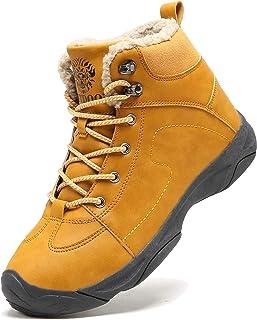 Axcone Homme Femme Chaussures Trekking Randonnée Bottes de Neige Hiver Imperméable Outdoor Boots Fourrure Cuir Imperméable...