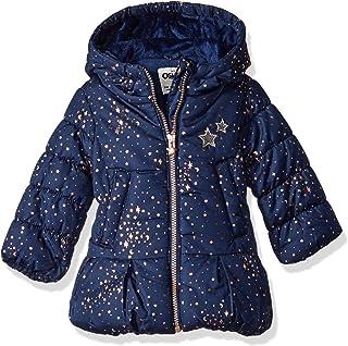 OshKosh B'Gosh Baby Girls' Hooded Peplum Jacket Coat