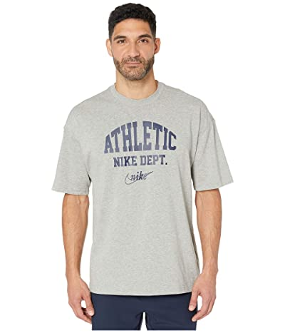 Nike NSW Short Sleeve Loose Tee University Athletic (Dark Grey Heather/Midnight Navy) Men