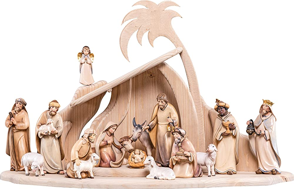 ferrari & arrighetti presepe completo in legno val gardena artis 17 pezzi demetz deur d4904_512