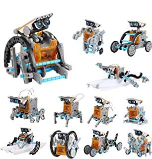 Lucky Doug Solar Robot Kit 12-in-1 Science STEM Robot Kit Toys for Kids Aged 8-12 and Older, Science Building Set Gifts fo...