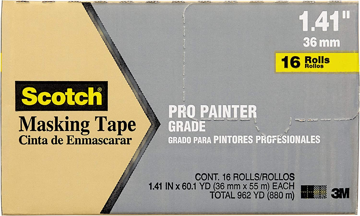 Scotch Contractor Grade Masking San Import Diego Mall Tape yards 60.1 by 1.41 inches