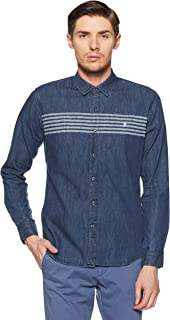 French Connection Men's PrintedSlim Fit Casual Shirt