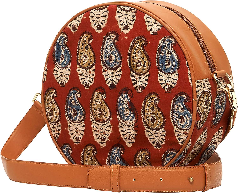 Round Special sale item Crossbody Bag Fashion Print Bohemian should Purse Fabric Regular discount