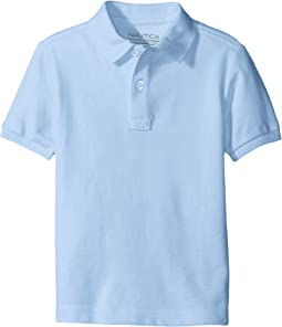 Husky Short Sleeve Pique Polo (Big Kids)