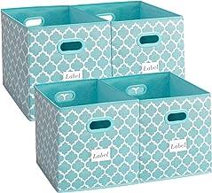 Homyfort Cloth Storage Bins,Flodable Cubes Box Baskets Containers Organizer for Drawers,Home Closet, Shelf,Nursery, Cabine...