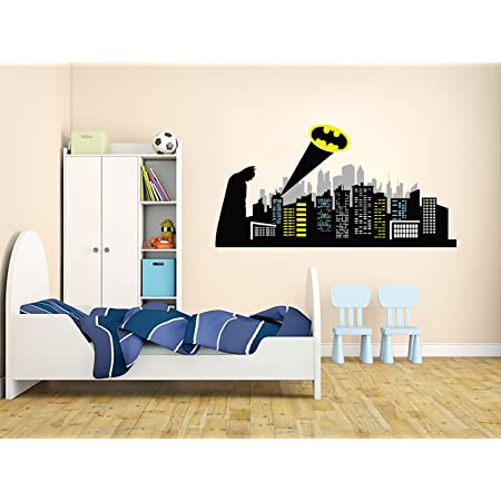 *5 sizes* 2 Colors GOTHAM CITY SKYLINE Batman Decal WALL STICKERS Removable Home